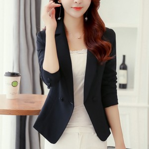 Office Wear Formal Outwear Coat Cardigan - Black
