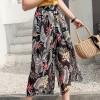 Floral Prints Irregular Chiffon Skirt - Multicolor