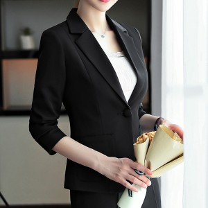 Formal Office Wear Outwear Coat Cardigan - Black