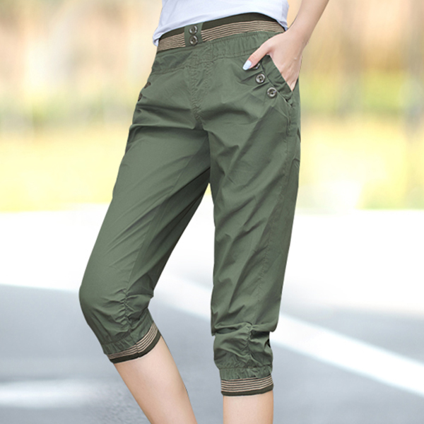 Beautiful Shaped  Sports Bottom Trousers -Green