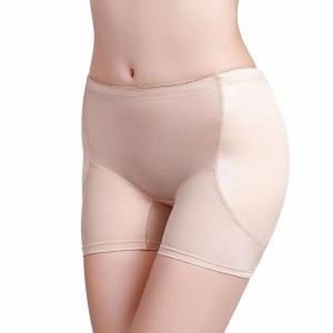 Buttocks Padded Panties Hip Lifting Women Underwear - Khaki