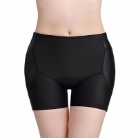 Buttocks Padded Panties Hip Lifting Women Underwear - Black