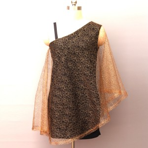 Net Outwear Golden Mini Solid Color Party Dress