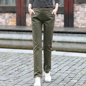 Full Length Casual Wearing Trouser - Green