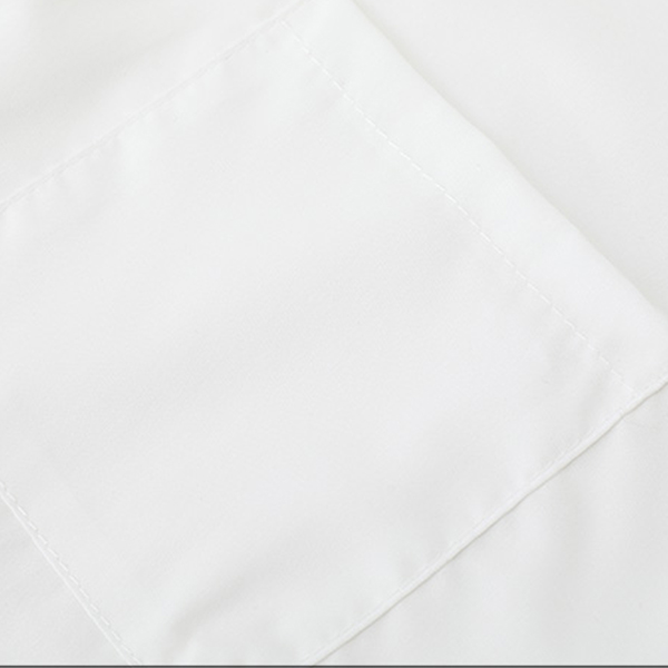Solid Button Closure Half Sleeves Formal Shirt - White