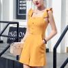 Strap Shoulder Summer Wear Mini Romper - Yellow
