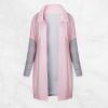 Dual Contrast Long Winter Pink Hoodie