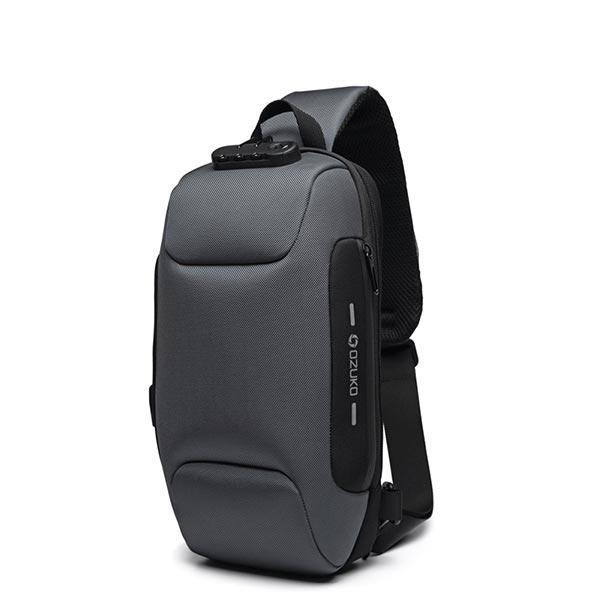 Casual Adjustable Strap Waterproof Cross Body Bags - Gray