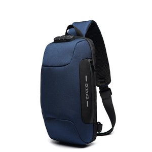 Casual Adjustable Strap Waterproof Cross Body Bags - Blue