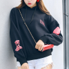 Casual Daily Wear Winter Hoodie Top - Black