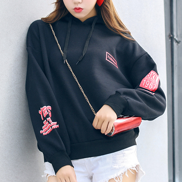 Casual Daily Wear Winter Hoodie Top - Black