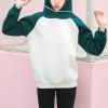 Casual Daily Wear Winter Hoodie Top - Green