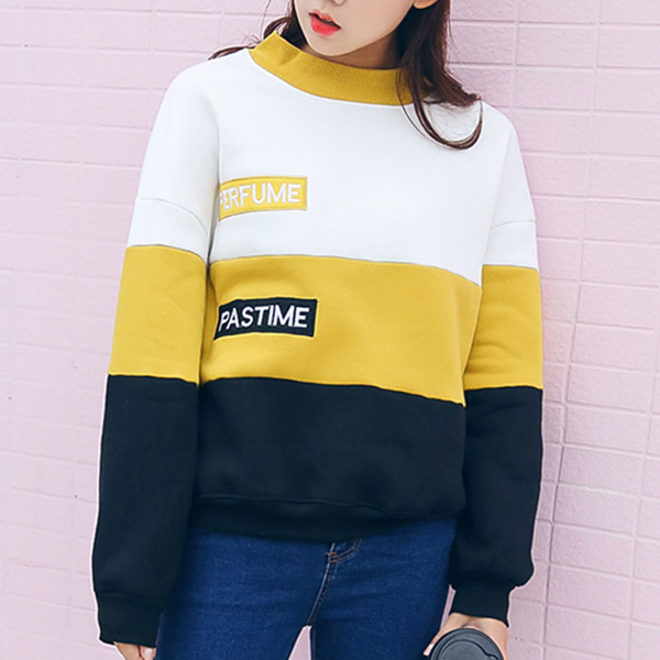 Patched Stripes Three Contrast Winter T-Shirt
