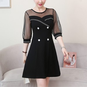 Thin Fabric Summer Special Mini Dress - Black