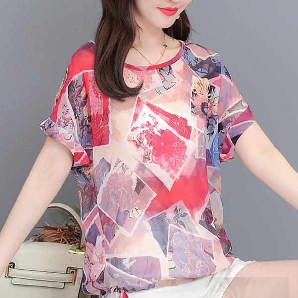 Bohemian Prints Multicolor Summer Wear Shirt - Multi Color