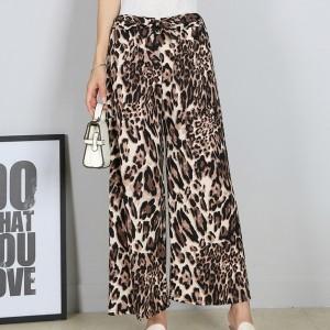Leopard Prints Loose Casual Wear Trouser