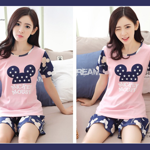 Micky Prints Multicolor T-Shirt With Shorts Pant