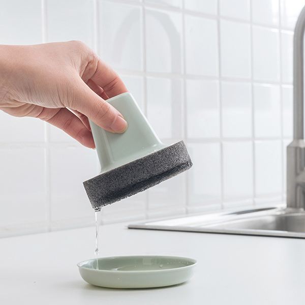 Handheld Creative Magic Cleaning Sponge With Base