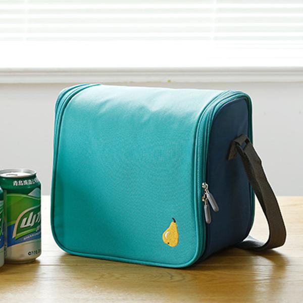 Zipper Closure Lunch Box Bags - Green