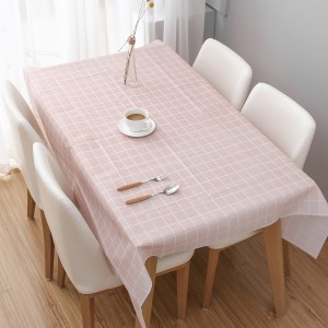Check Prints Easy Cleaning Table Cover - Pink