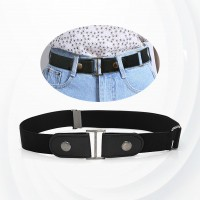 Canvas Nylon Buckle Adjustable Belt - Black