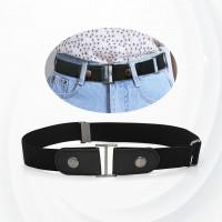 Canvas Nylon Buckle Adjustable Belt - Black