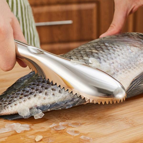 Stainless Steel Fish Skin Scraper - Silver