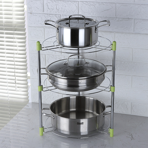 Three Layered Kitchen Organizer Rack
