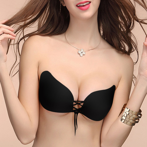 Women Sexy Black Invisible Bra Adhesive Maternity Strapless Bra
