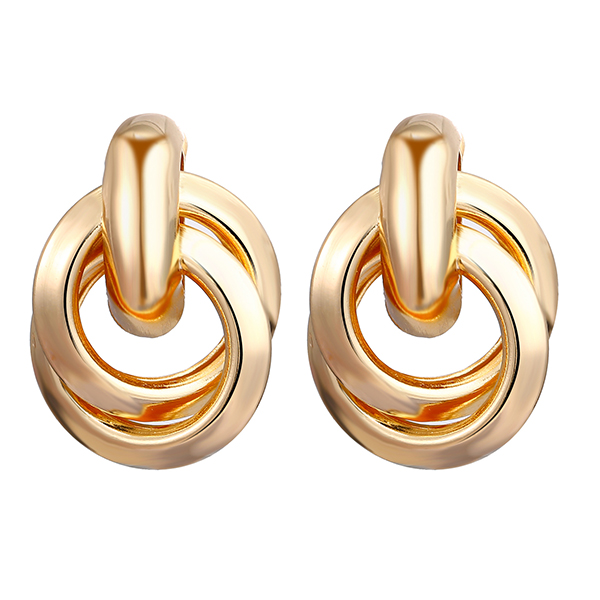 Spiral Gold Plated Ear Tops Pair