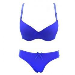 Luxury Blue Bra and Breifs With Beautiful Shine