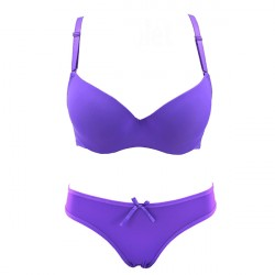 Luxury Purple Bra and Breifs With Beautiful Shine
