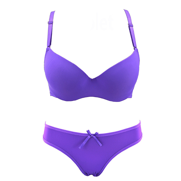 Luxury Purple Bra and Briefs With Beautiful Shine