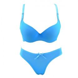 Luxury Sky Blue Bra and Breifs With Beautiful Shine