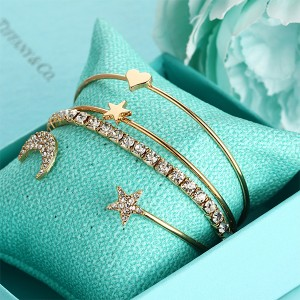 Four Pieces Gold Plated Party Wear Bracelets