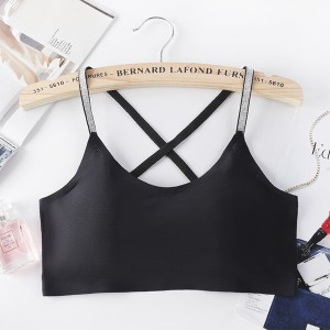 Backless Sports Wear Summer Bra - Black
