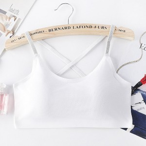 Backless Sports Wear Summer Bra - White