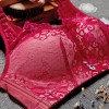 Floral Lace Summer Wear Luxury Pad Bra - Red