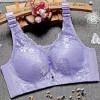 Floral Lace Summer Wear Luxury Pad Bra - Purple