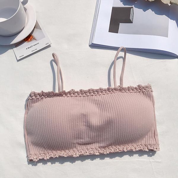 Bandeau Style Strap Summer Wear Bra - Pink