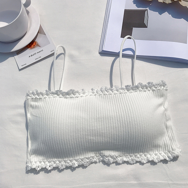 Bandeau Style Strap Summer Wear Bra - White