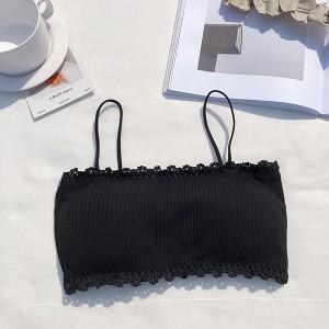 Bandeau Style Strap Summer Wear Bra - Black