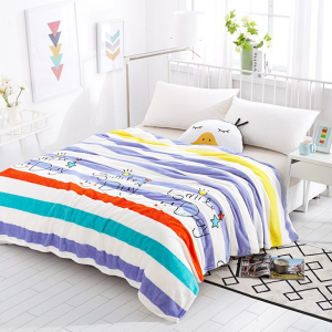 Stripes Silky And Colorful Thin Blanket