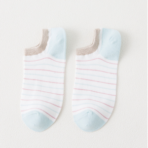 Multicolor Striped Light Summer Socks Pair