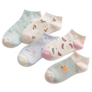 Printed Art Colorful Five Pieces Socks Pairs
