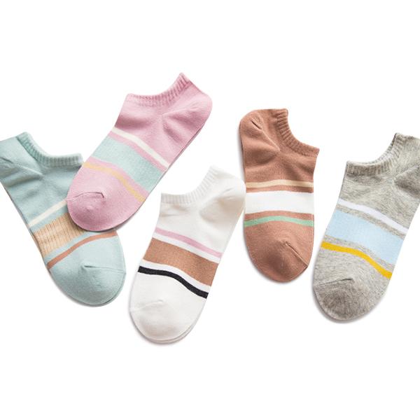 Spring Multicolored Five Pieces Socks Bundle