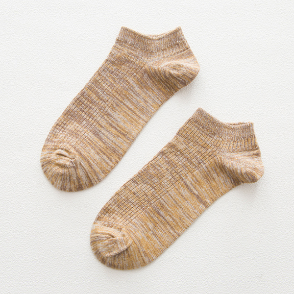 Orange Textured Cool Spring Socks Pair