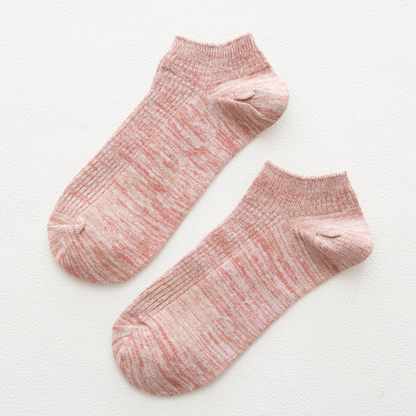 Pink Textured Cool Spring Socks Pair