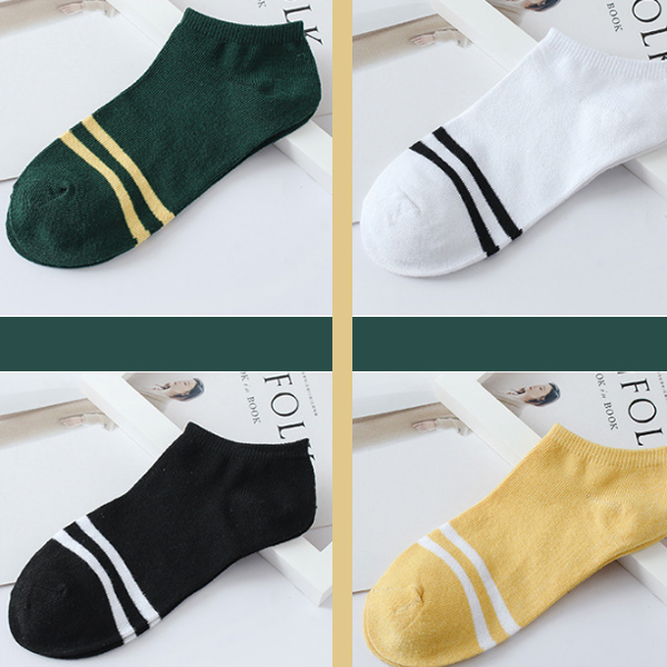 Striped Five Pieces Colorful Socks Pair Set