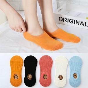 Plain Five Pieces Socks Pair Set - Multicolor